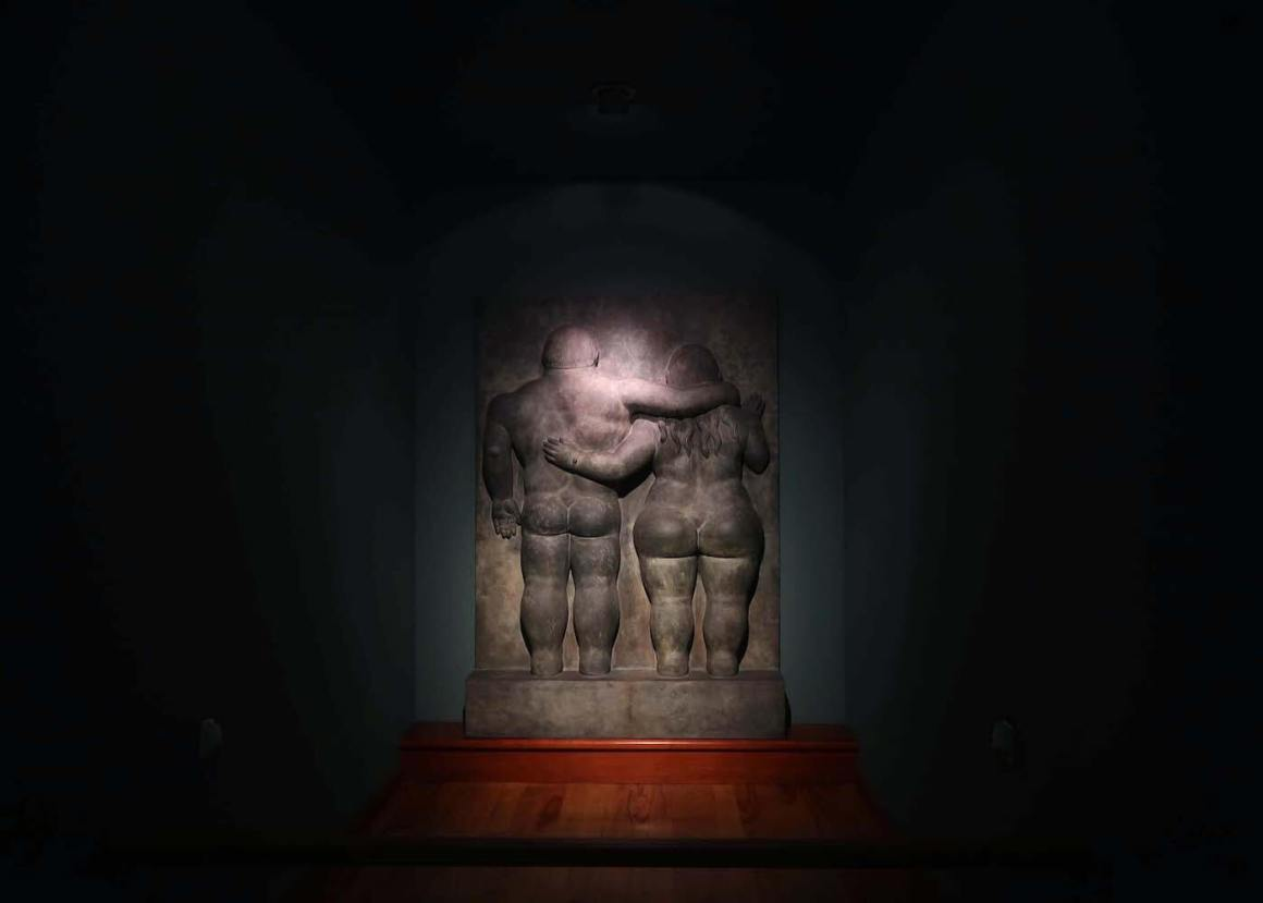 Artwork of a couple in the Botero Museum in Bogota
