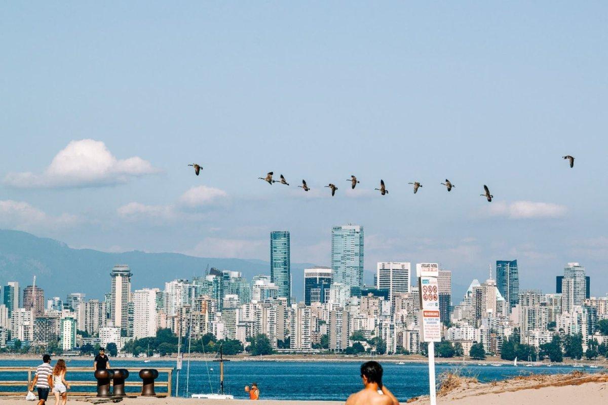 Vancouver skyline views from Jericho Beach