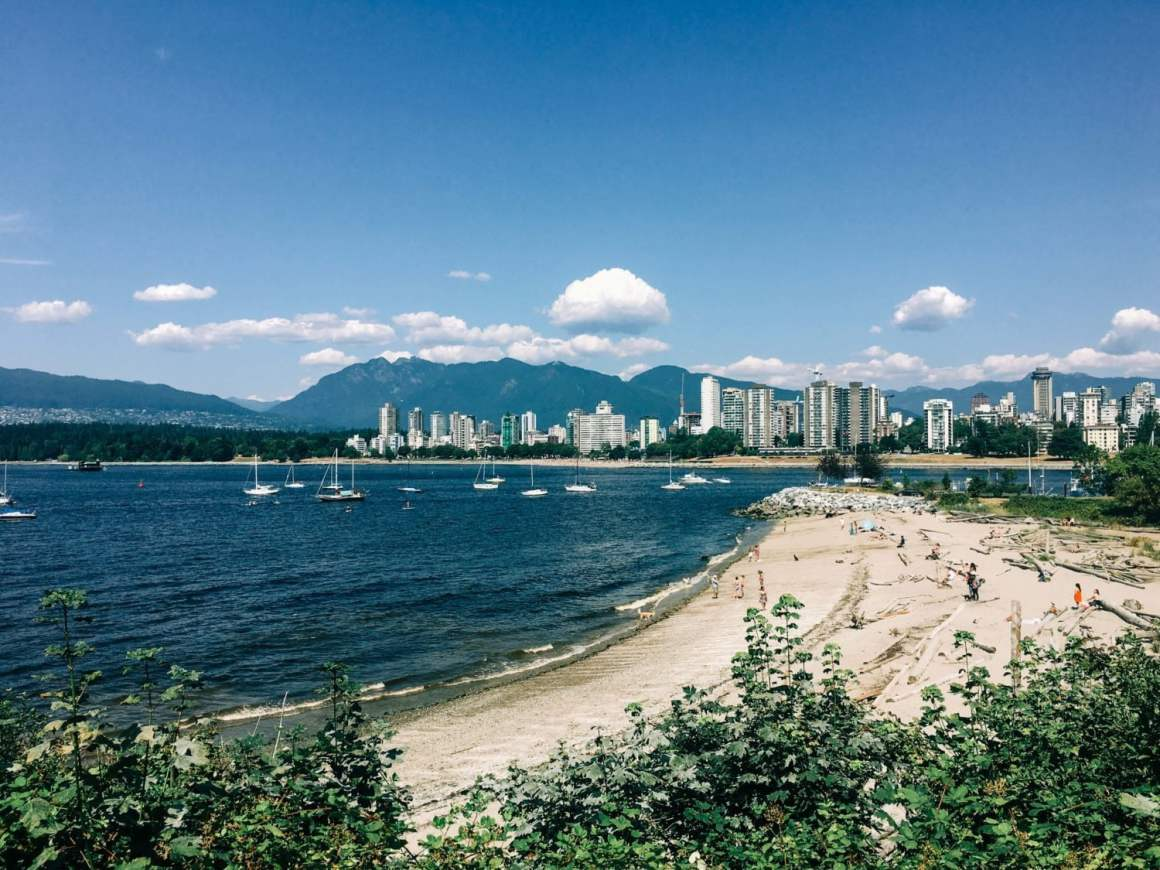 hadden beach view from above in vancouver