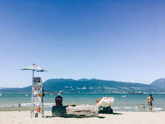 lifeguard on jericho beach in vancouver