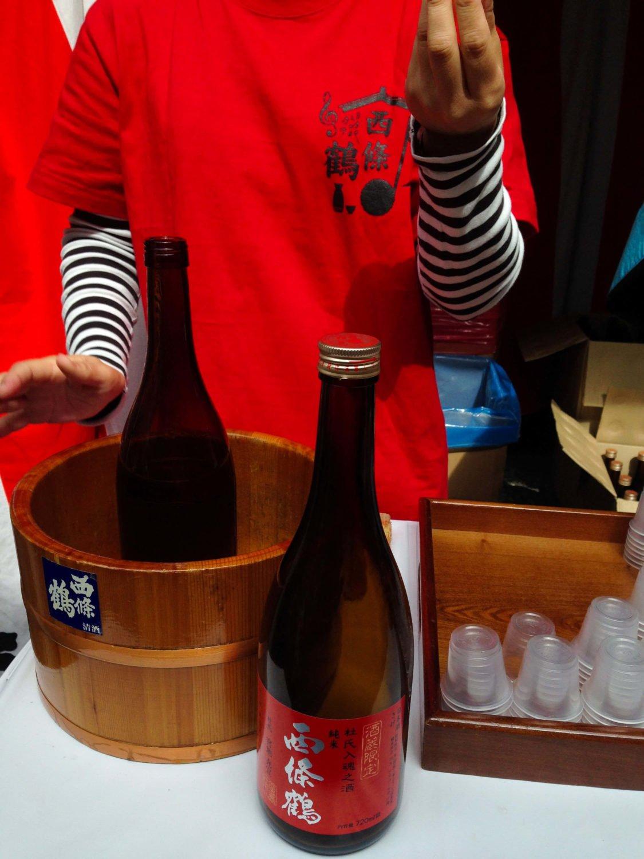 saijo local brewery sampling at saijo sake festival