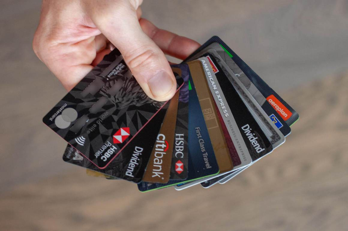 Selection of Canadian credit cards