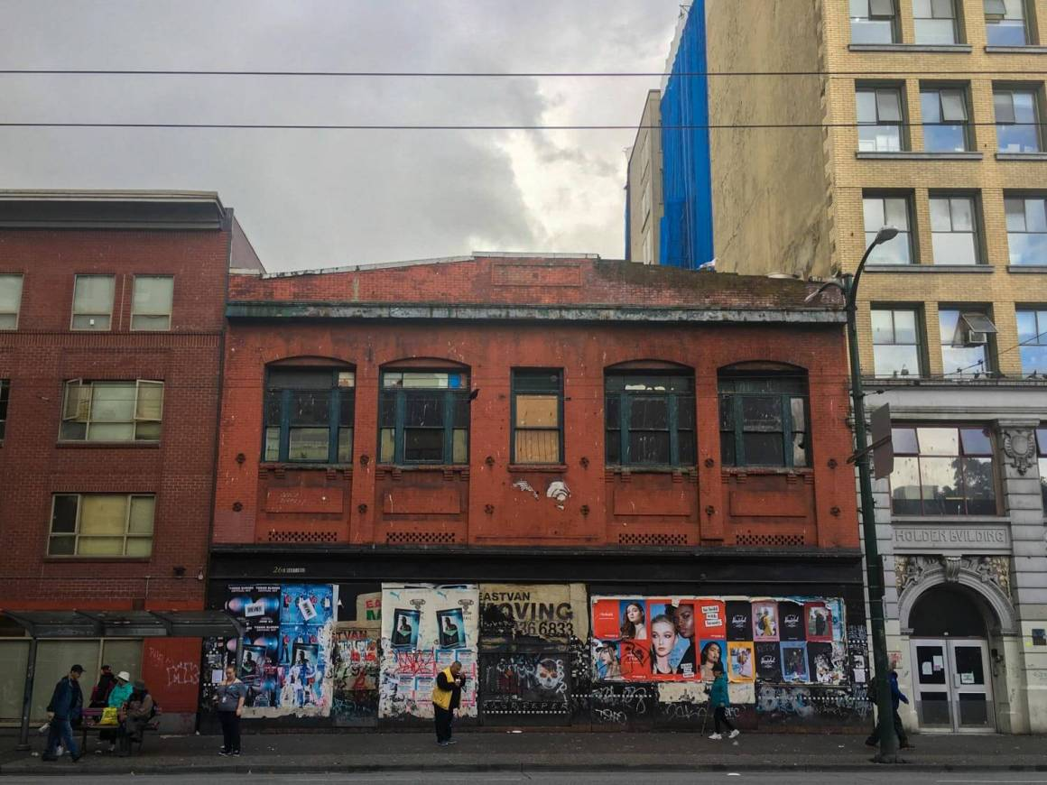 Abandoned building in the gritty Downtown Eastside
