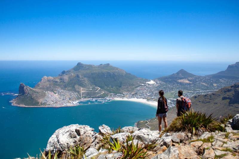 Kim and Justing viewing Hout Bay