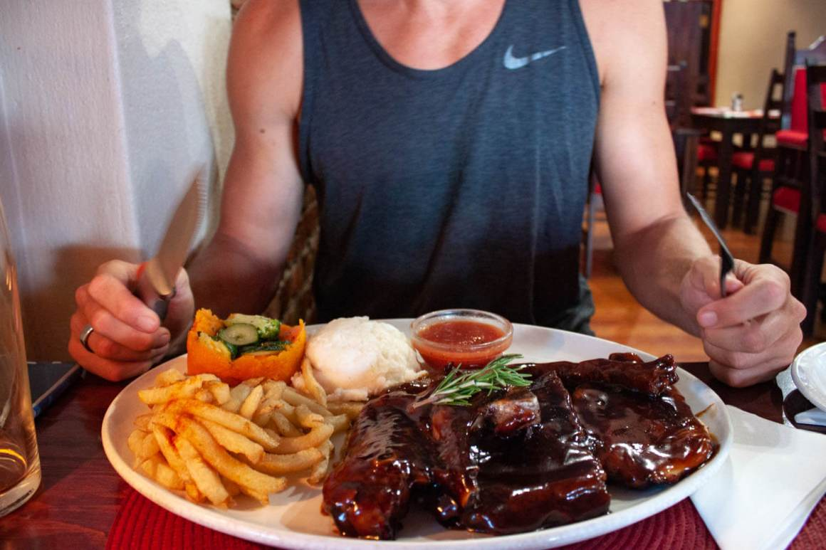 Braai platter from Bourbon Street Restaurant in Robertson