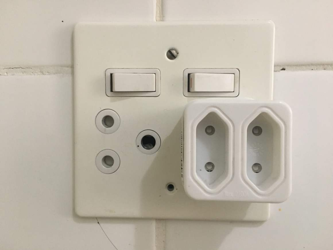 The two types of sockets you'll see in South Africa and will need adapters for.