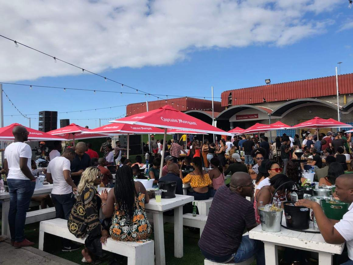 People having a great time at Rands in Khayelitsha.