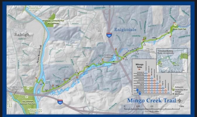 Mingo Creek Trails map
