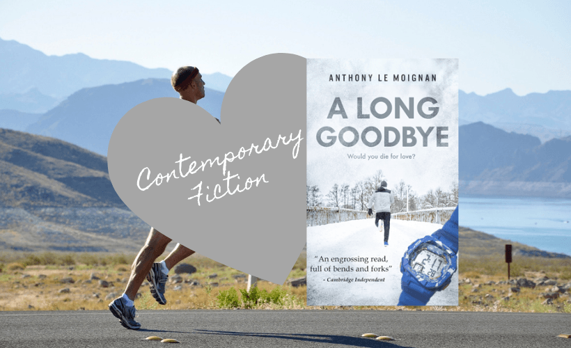 A Long Goodbye by Anthony Le Moignan Book Cover with man running