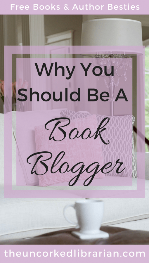 Why You Should Be A Book Blogger Pinterest Pin, couch with cup of tea and lamp