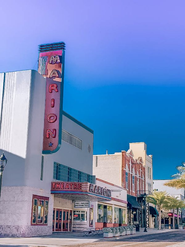 Old movie theater in downtown Ocala, Florida