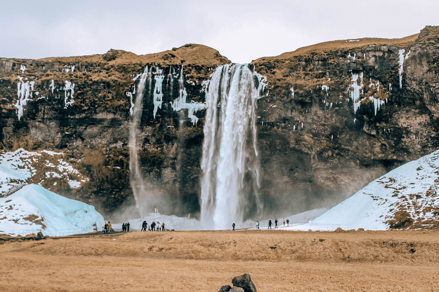 Seljalandsfoss waterfall on Ring Road Iceland