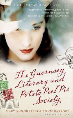 The Guernsey Literary and Potato Peel Pie Society book cover with brunette woman with red lips