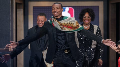 Image result for wendell carter parents draft night