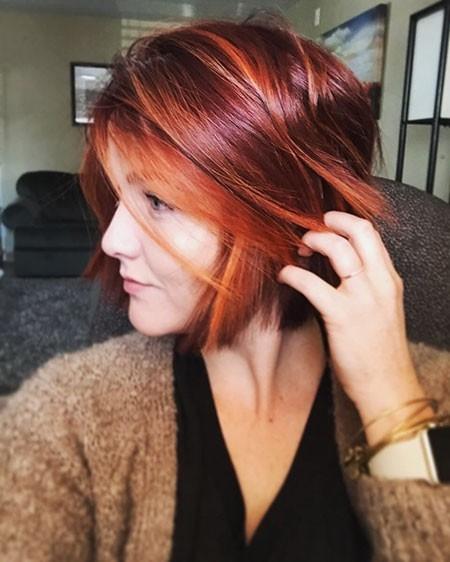 Amazing-Bob-Haircut Short Red Hair Color Ideas
