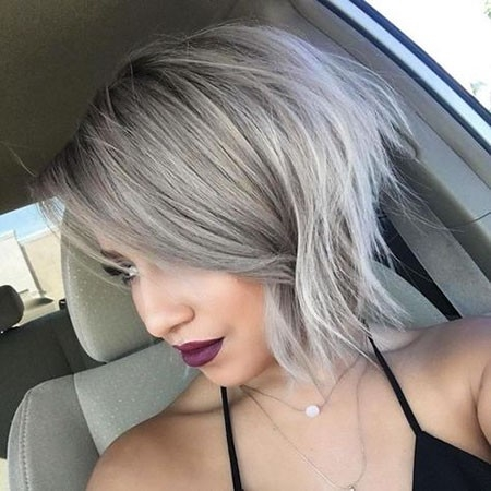 Amazing-Grey-Bob-Hairstyle New Cute Hairstyles for Short Hair