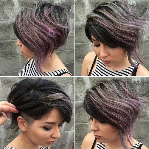 Ashy-Grey-Short-Hair Cute Girls Choice: Short Haircuts