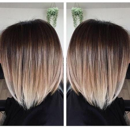 Asymmetric-Bob-Short-Hair-Color Ombre Hairstyles for Short Hair