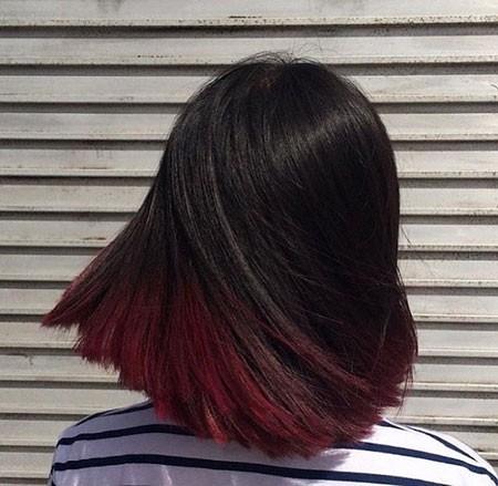 Beautiful-Straight-Hair Short Red Hair Color Ideas