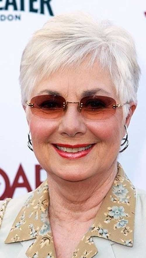 Bleached-Pixie-Hair-for-Women-Over-70 Best Short Haircuts For Women Over 70