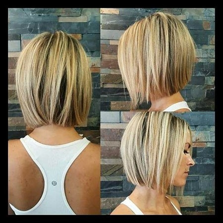 Blonde-Hair-Color Short Trendy Hairstyles 2018