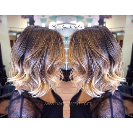 Blonde-Ombre-Hair-Color Balayage Ombre Short Hair