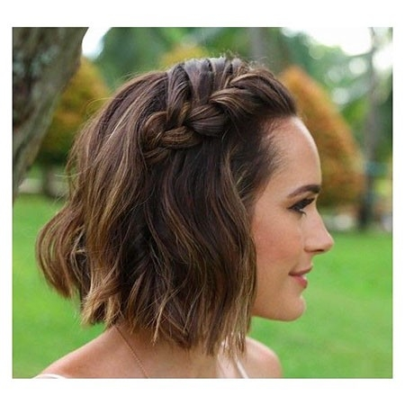 Braided-Bob New Cute Hairstyles for Short Hair
