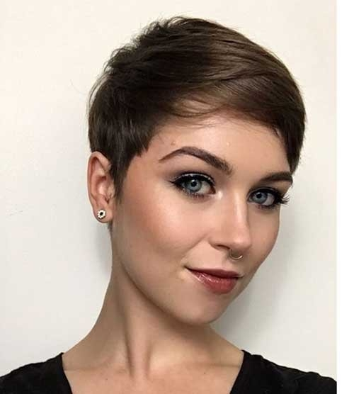 Chestnut-Brown-Pixie-Hair Superb Short Pixie Haircuts for Women