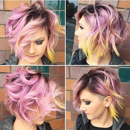 Coloured-Balayage-Short-Hair Balayage Ombre Short Hair