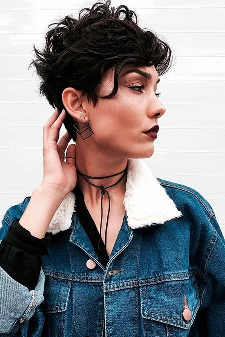 Curly-Short-Hair Short Trendy Hairstyles 2018