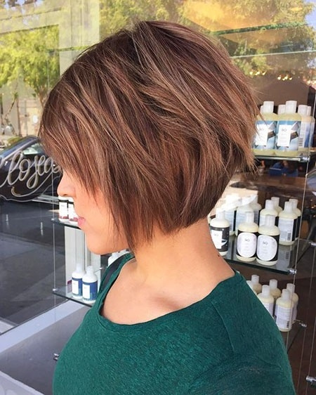 Cute-Layered-Bob New Short Layered Hairstyles 2018