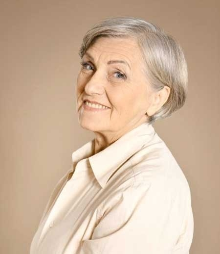 Cute-Short-Bob-Styled-with-Inverted-Ends Best Short Haircuts for Older Women