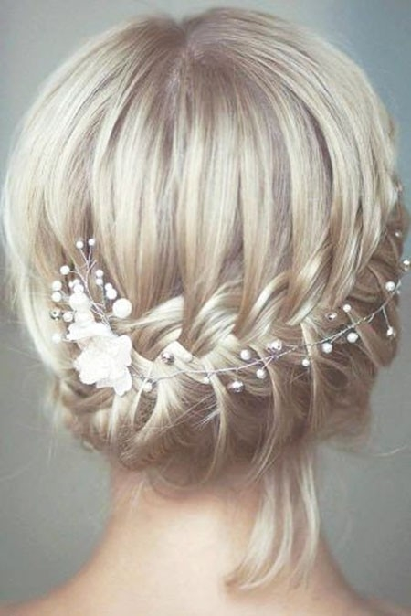 Cute-and-Stylish-Wedding-Updo-Hair Updo Hairstyles for Short Hair