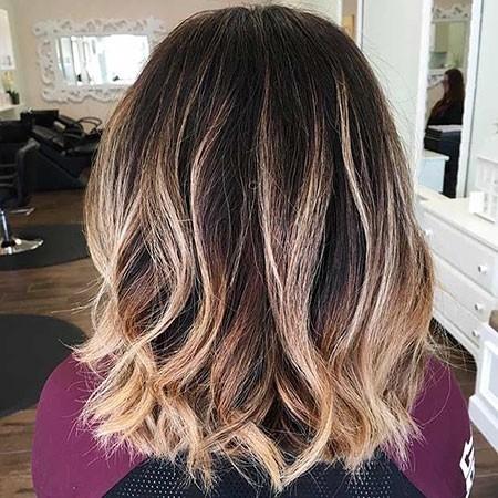 Dark-Bob-Hair-Color Balayage Ombre Short Hair