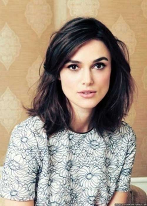 Dark-Brown-Hair-Shoulder-Length Remarkable Pics of Trendy Short Hairstyles for Women