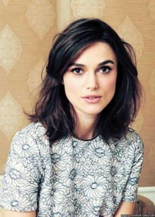Dark-Brown-Hair-Shoulder-Length Remarkable Pics of Trendy Short Hairstyles for Women