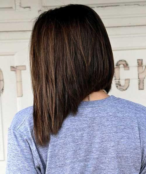 Dark-Brown-Inverted-Bob-Haircut Inverted Bob Haircuts