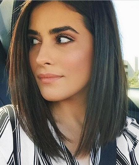 Dark-Short-Hair New Short Straight Hairstyles 2018