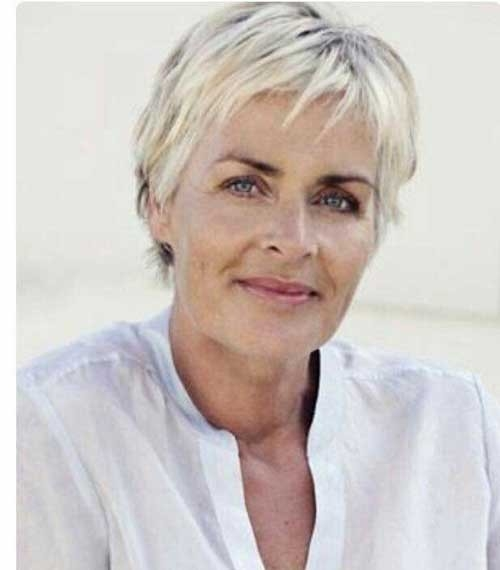 Fine-Pixie-Hair Short Haircuts for Older Women 2018-2019
