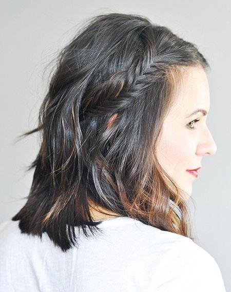 Grey-Hair Easy Braids for Short Hair