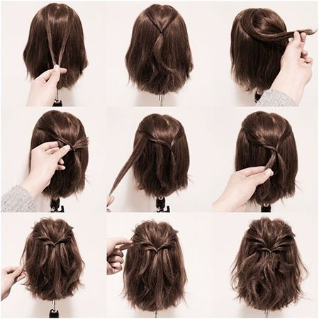 Half-Up-Hairtyle-for-Short-Hair New Cute Hairstyles for Short Hair