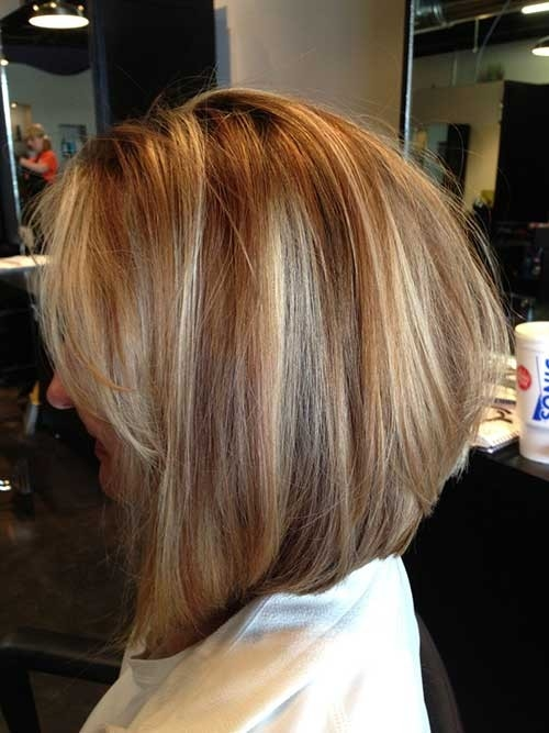 Inverted-Dark-Blonde-Bob-Hairstyle Inverted Bob Haircuts