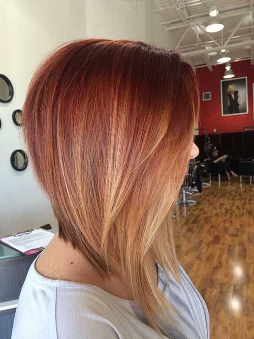 Inverted-Long-Bob-Ombre-Hairstyle Inverted Bob Haircuts