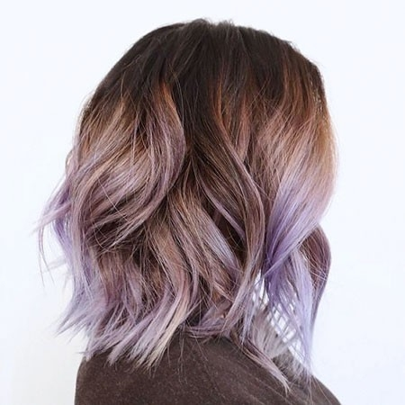 Lavender-Ombre-Hair Ombre Hairstyles for Short Hair