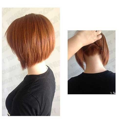 Line-Bob-with-Undercut Splendid Layered Short Haircuts for Ladies