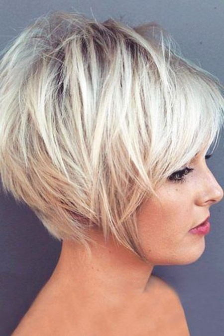 Messy-Blonde-Hair New Short Layered Hairstyles 2018