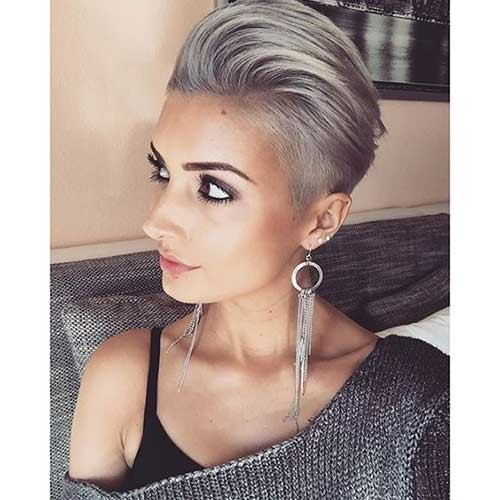 Modern-Grey-Colored-Pixie Long Pixie Haircuts You Should See
