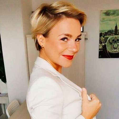 Modern-Short-Haircut Blonde Short Hair Ideas for Ladies
