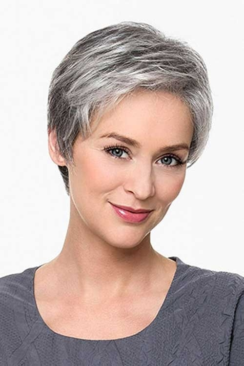 Natural-Grey-Short-Hair Best Short Haircuts for Older Women