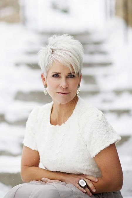Pixie-Hair-for-Middle-Aged-Women Great Short Hairstyles for Women 2018